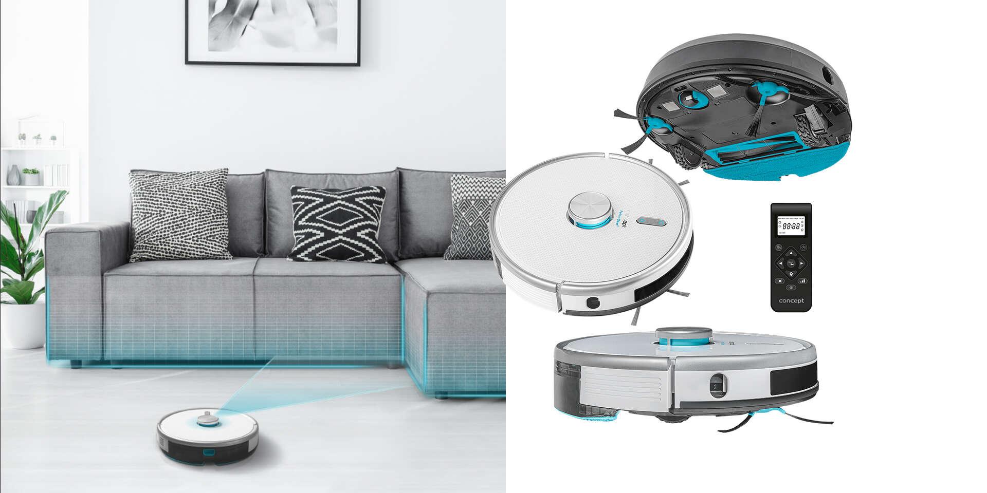 Robotický vysávač VR3120 2 v 1 PERFECT CLEAN Laser s garanciou 45 ...