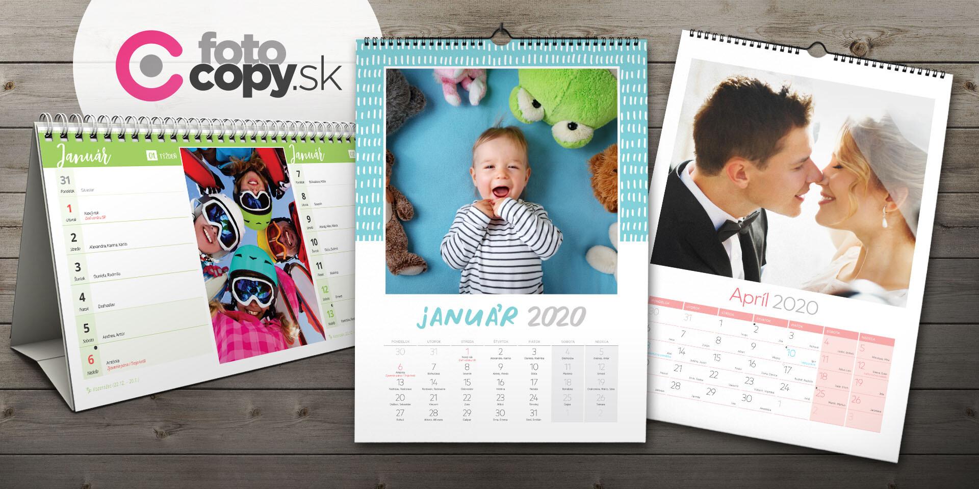 Nástenné a stolové fotokalendáre - najkrajšie spomienky po celý rok 2020