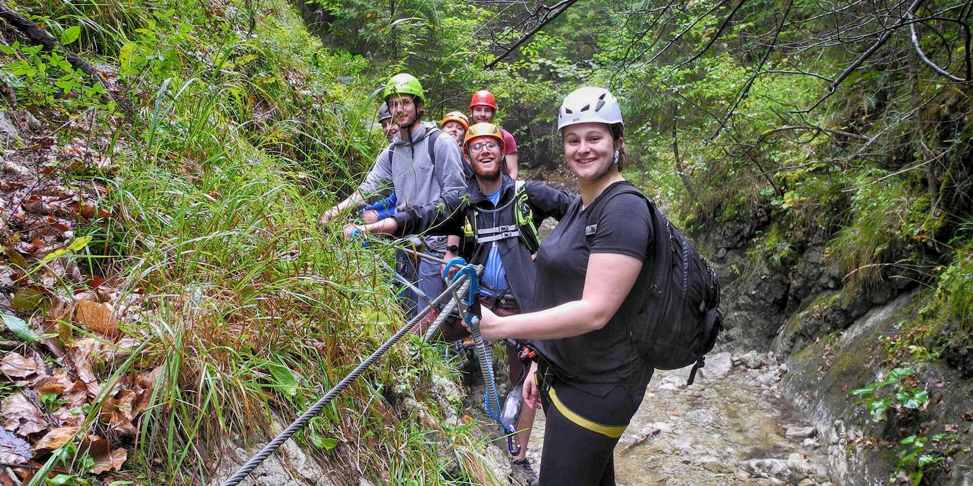 Jedinečná ferrata Veľký Kyseľ v Slovenskom raji s certifikovaným horským sprievodcom