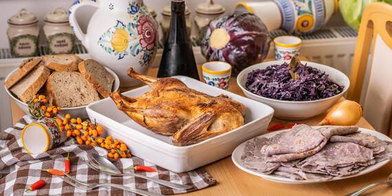 Pečená hus alebo kačka priamo na váš stôl s bezlepkovými lokšami / Bratislava