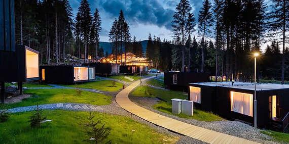 Björnson Tree Houses: Unikátne chatky pod Chopkom s neobmedzeným wellness, polpenziou, lanovkou a deťmi zdarma/Demänovská Dolina - Jasná