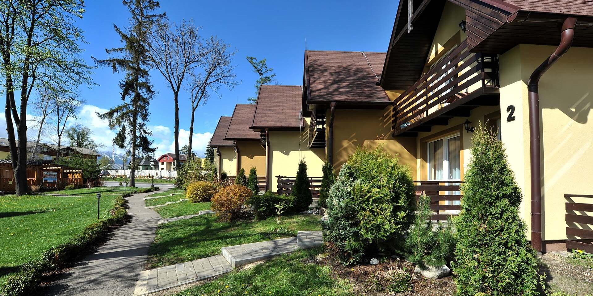 Príjemné ubytovanie vo vilách pod Lomnickým štítom so saunou a ubytovaním pre dieťa do 6 rokov