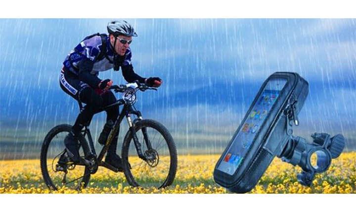 Vodotesné puzdro na mobil s uchytením na bicykel