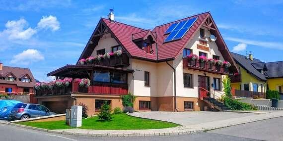 Pobyt vo Veľkej Lomnici v útulnom penzióne s raňajkami, kinom a krásnym výhľadom / Veľká Lomnica