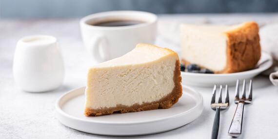 Espresso a cheesecake v Caffe Bar Vista / Považská Bystrica