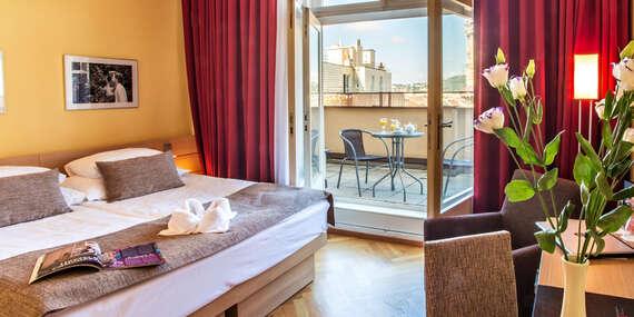 Luxusné izby hotela Amarilis**** priamo v centre Prahy s možnosťou wellness a degustácie/Praha, Česko
