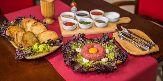 Tatarák a 10 hrianok pre 2 osoby v Reštaurácii Rotoska s možnosťou take away alebo donáškou/Bratislava – Rača