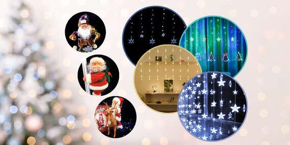 Vianočné svetlá (7 druhov) a Santa Claus na baterky (3 druhy) pre pravú sviatočnú atmosféru/Slovensko