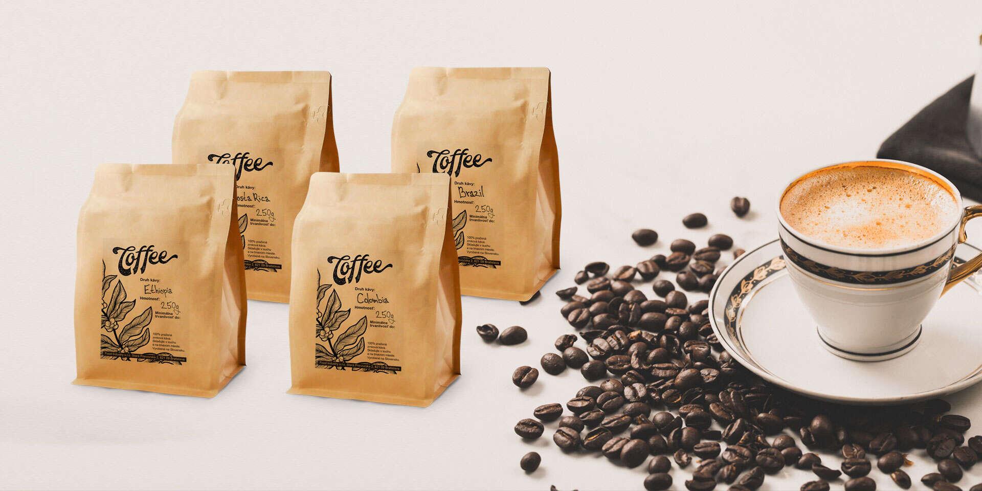 Balíček výberovej kávy priamo k vám domov alebo s osobným odberom