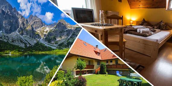 Villa Tatran v Starej Lesnej s panoramatickým výhľadom na Lomnický štít/Stará Lesná