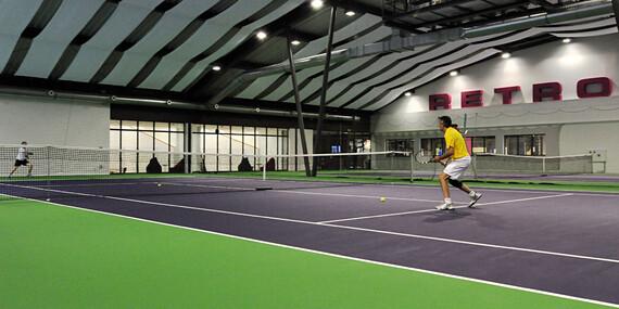 Hodinový vstup na tenis v RETRO Sport & Wellness / Bratislava - Ružinov