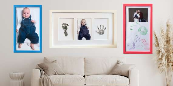 Fotorámeček na 1 nebo 3 fotografie i s možností otisku dítěte nebo celé rodiny/ČR