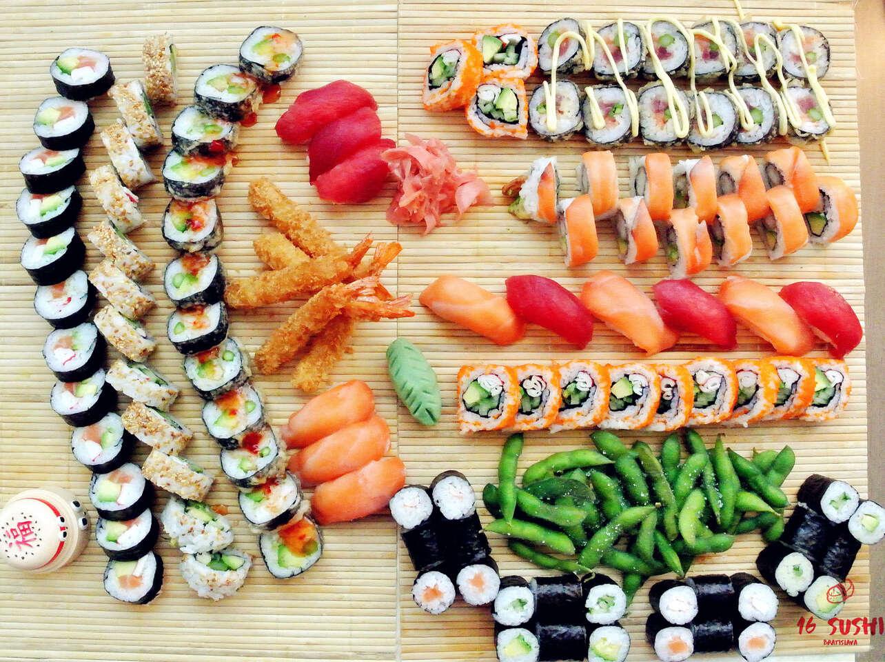 Sushi set s donáškou zadarmo priamo k vám domov