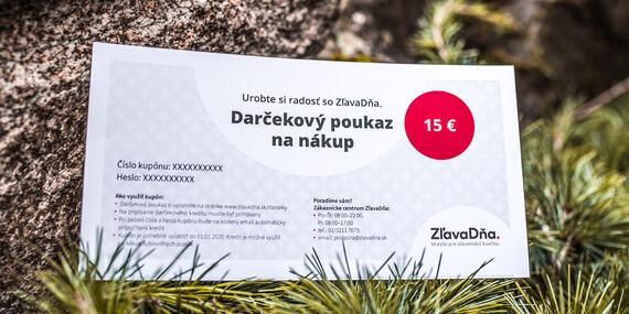 Darčekový poukaz na nákup na ZľavaDňa/Celé Slovensko