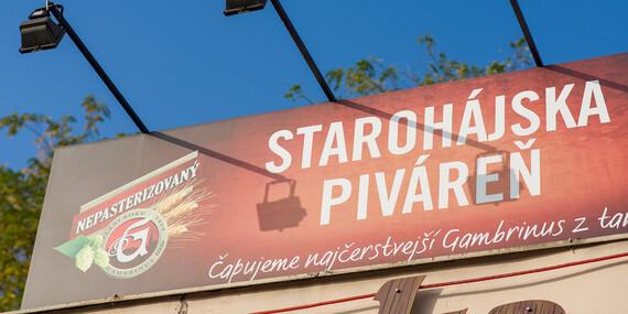 Pečené koleno – 1,8 kg pre dvoch v Starohájskej pivárni/Bratislava – Petržalka