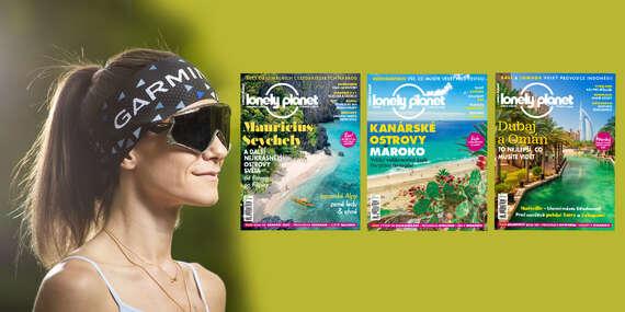 Magazín pre nadšencov cestovania - 6 vydaní časopisu Lonely Planet + funkčná čelenka Garmin/Slovensko