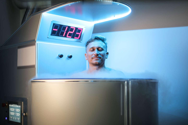 Jednorázový vstup do kryosauny s teplotou -130 °C