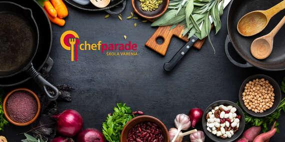 Online kurzy varenia Chefparade + možnosť dovozu všetkých surovín/Slovensko
