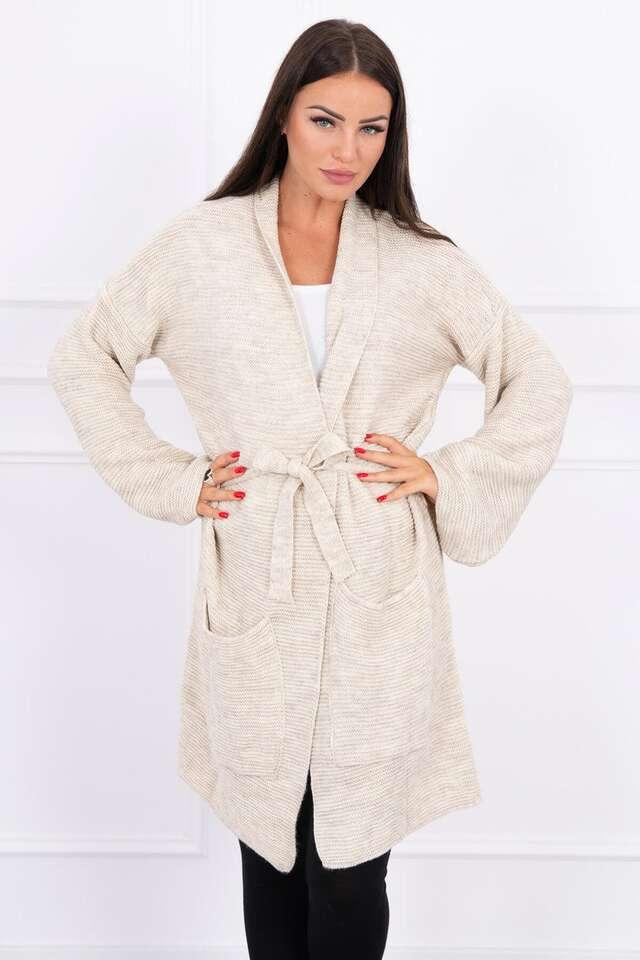 Dámsky elegantný sveter s viazaním