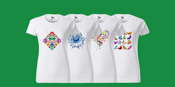 Bavlnené tričká až po 3XL s vlastným alebo jedným z 11 motívov (poštovné v cene)/Slovensko