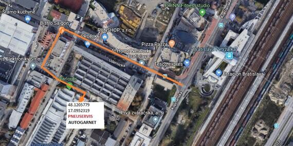 Kompletné prezutie kolies, kontrola bŕzd a podvozku s možnosťou vyváženia/Bratislava – Petržalka