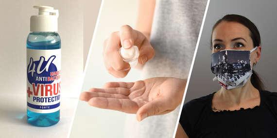 Balenie ručne vyrobených rúšok a 100 ml antibakteriálny gél s doručením do 24 hodín kuriérom v cene/Slovensko