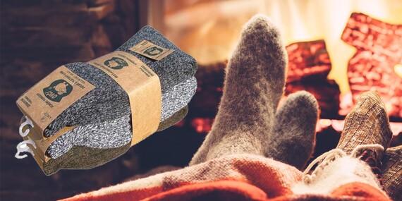 Teplučké ponožky z pravej ovčej vlny/Slovensko
