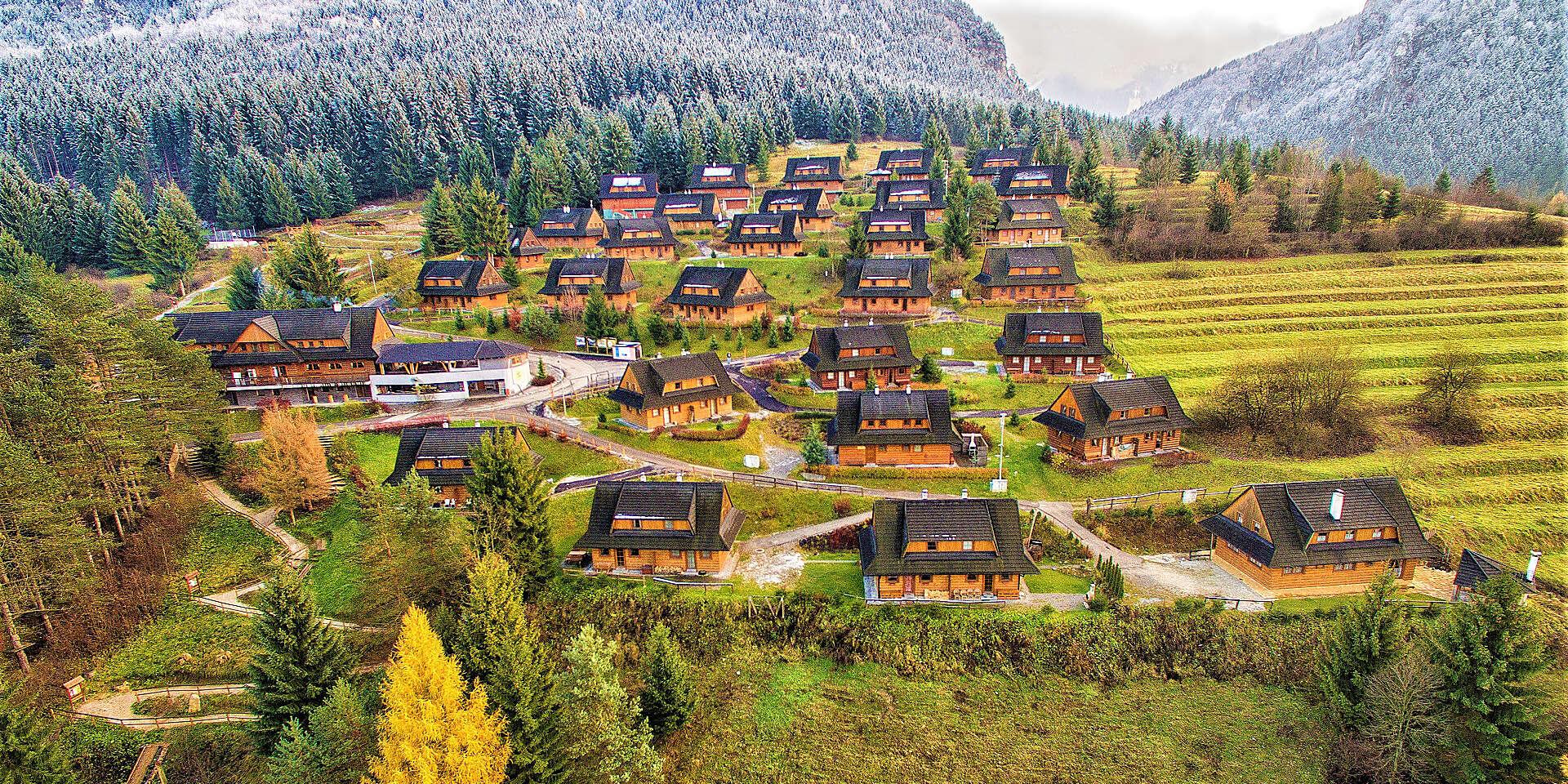 NARODENINOVÁ NOVINKA: Drevenice Terchová Resort – relax v lone prírody s možnosťou wellness