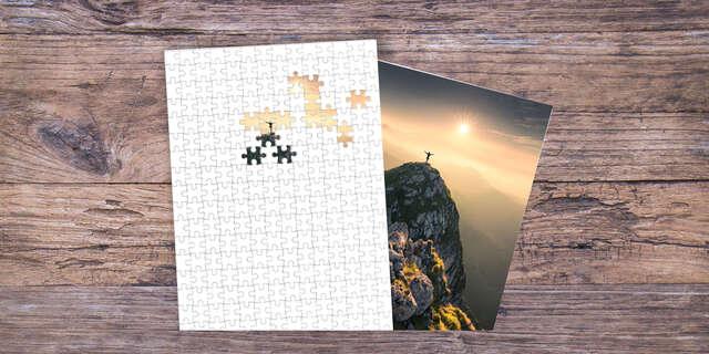 Puzzle s vlastnou fotografiou.