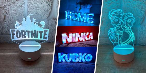 Svetelné LED lampy alebo nápisy pre deti (vyrobené na Slovensku)/Slovensko