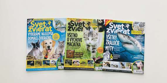 4 vydania časopisu Svet zvierat/Slovensko