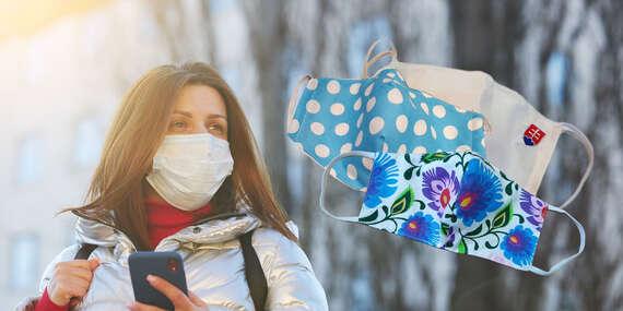Bavlnené rúška s vreckom na filter pre deti aj dospelých/Slovensko