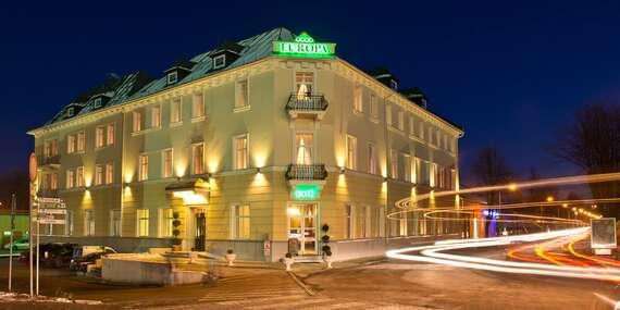 Pobyt v historickej budove hotela Europa**** len pár minút od AquaCity Poprad (15 % zľava na vstup)/Poprad