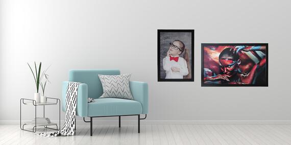 Obraz z vlastnej fotografie na odľahčenej doske v drevenom ráme - až 3 farby na výber/Slovensko
