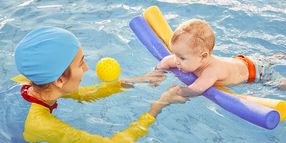 4-týždňový kurz plávania pre bábätká a vstup do sauny pre aklimatizovanie bábätka/Bratislava – Ružinov