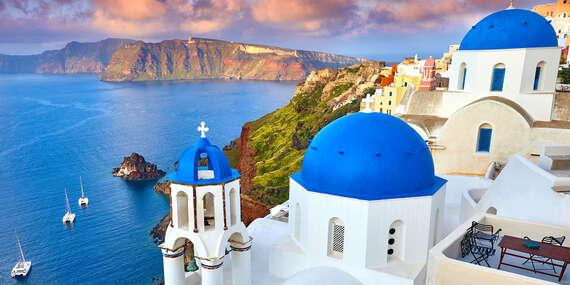 6 dní plných zážitkov na Santorini po boku slovenského sprievodcu CK s odletom z Viedne, raňajkami a ubytovaním 50 m od pláže/Santorini - Grécko