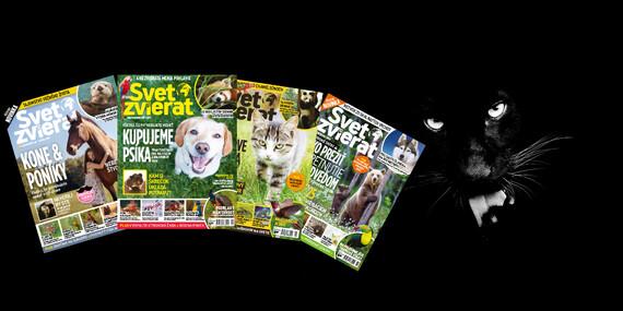Ročné predplatné časopisu Svet zvierat/Slovensko