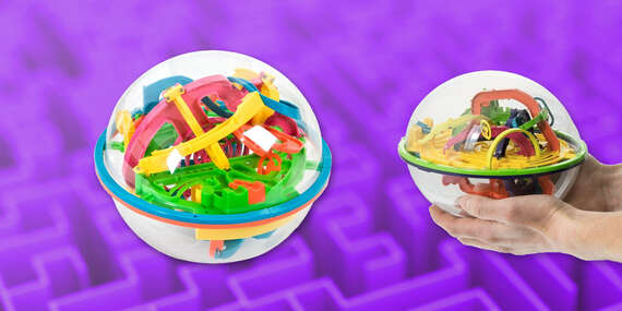 Tip na darček: Návyková lopta Intellect Ball s 3D bludiskom vycibrí vaše zručnosti / Slovensko