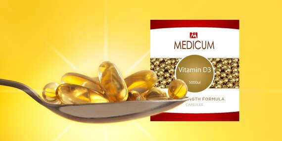 Vitamín D3 vo vysokej dávke 5000 IU – váš pomocník v boji s koronavírusom (doprava zdarma)/Slovensko