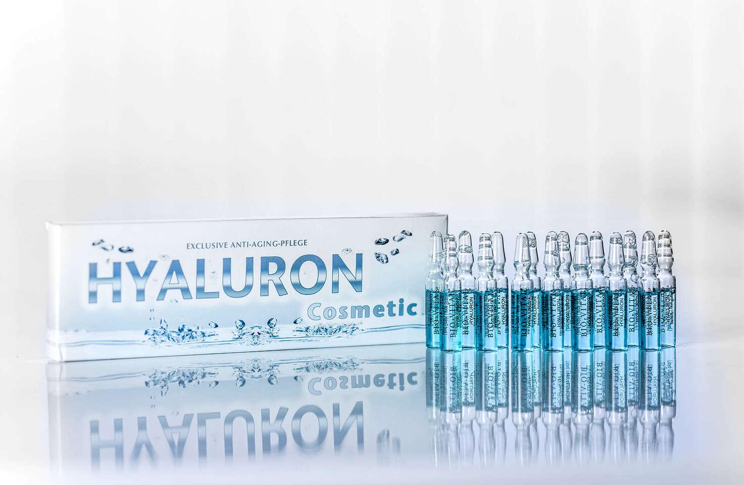 Kyselina hyalurónová vo forme ampuliek a gélu alebo koenzým Q10, ...