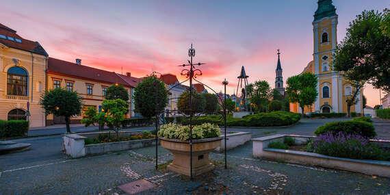 Romantický pobyt v centre historického mesta Lučenec s prekvapením na izbe a raňajkami v hoteli Pelikán***/Lučenec