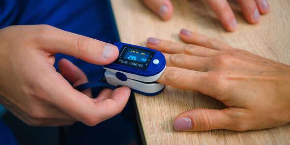 Pulzný oxymeter + šnúrka na zápästie zdarma, pre všetkých, ktorí sa starajú o svoje zdravie/Slovensko