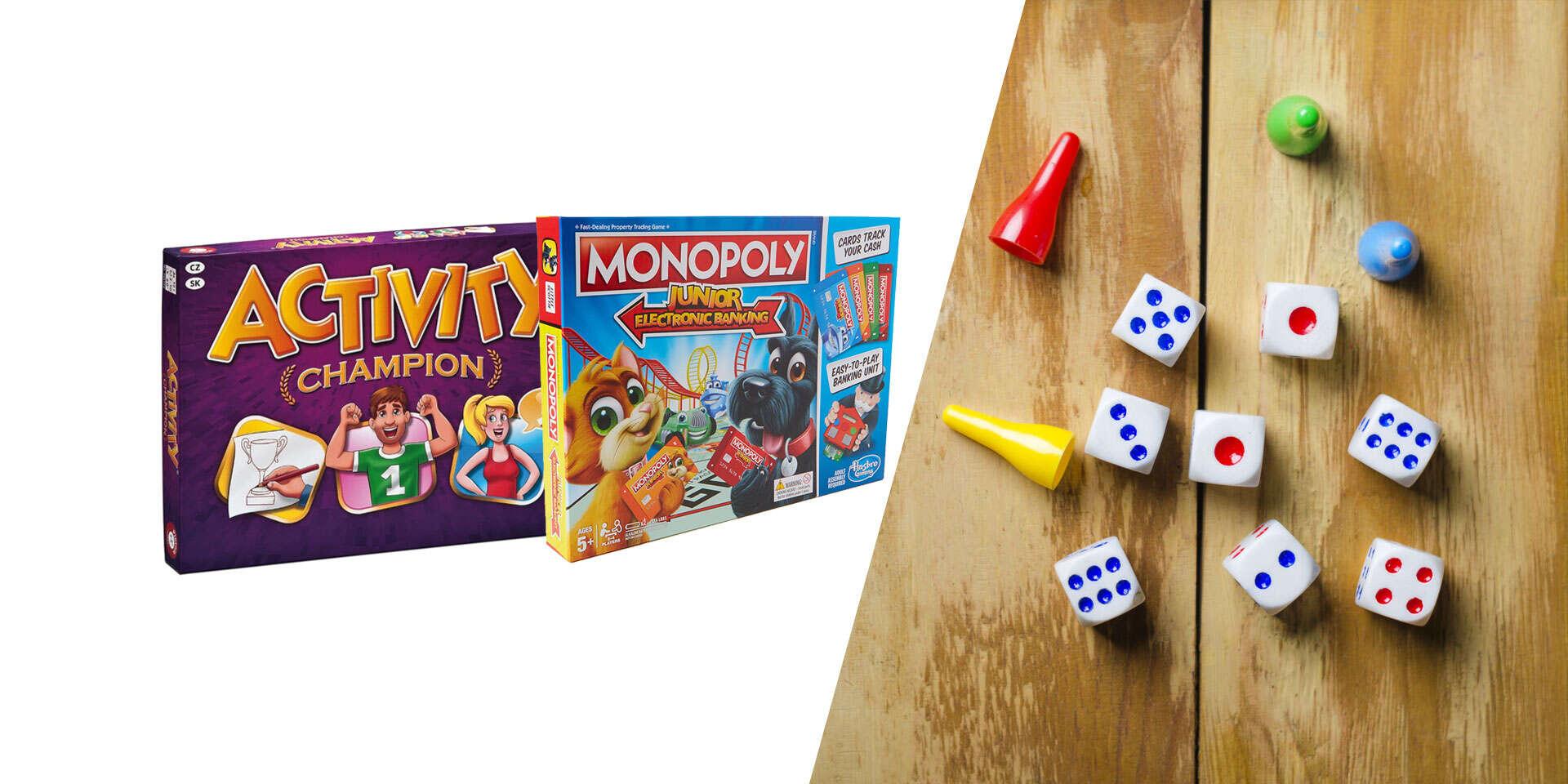 Spoločenské hry pre deti - Activity Champion alebo Monopoly Junior Electronic Banking