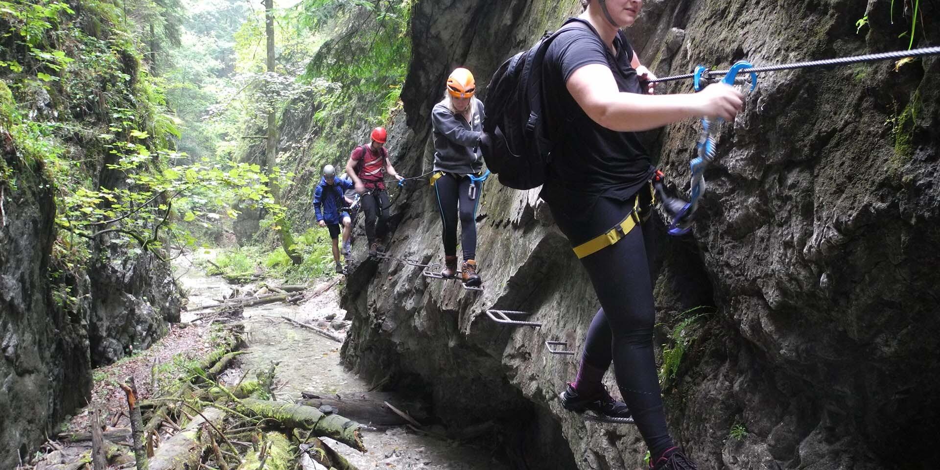 Jedinečná ferrata – Veľký Kyseľ v Slovenskom raji s certifikovaným horským sprievodcom