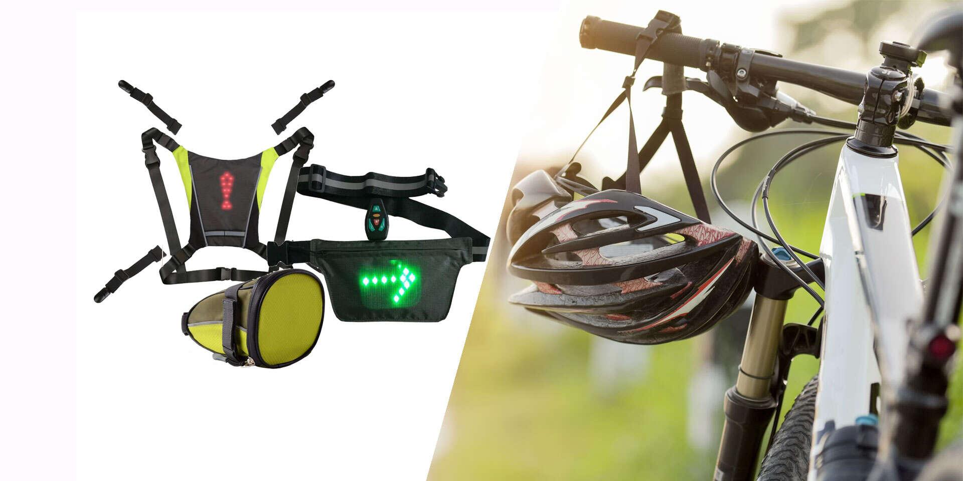 LED smerovky s diaľkovým ovládaním pre kolobežkárov a cyklistov