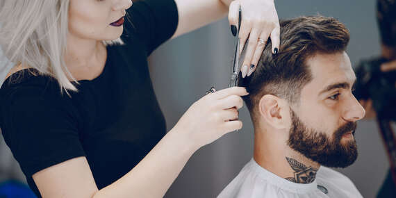 """Pánsky alebo barber strih so """"Scrub"""" energizujúcou alebo relaxačnou kúrou/Košice"""