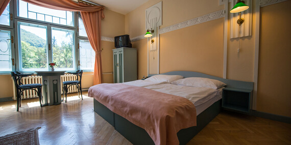 Relaxačný pobyt pre 2 osoby s polpenziou, wellness a masážou v jedinečnom hoteli MOST SLÁVY***/Trenčianske Teplice