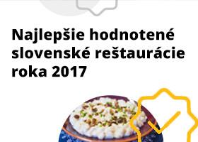 Pozrite si slovenské reštaurácie s najlepšími hodnoteniami na ZľavaDňa za rok 2017