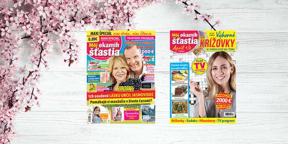 Ročné predplatné časopisu Môj okamih šťastia a dvojtýždenníka Môj okamih šťastia KRÍŽOVKY/Slovensko