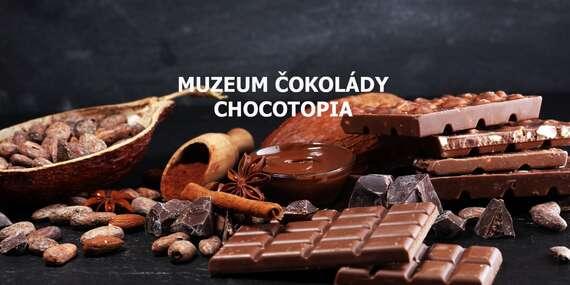 Vstup do muzea čokolády Chocotopia v centru Prahy s ochutnávkou a prodlouženou platností do prosince 2020 - za každý prodaný kupón jedna 100 g čokoláda pro Českou asociaci sester / Praha